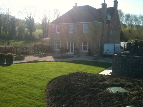 Heavy Landscaping project at Cucklington, Somerset.